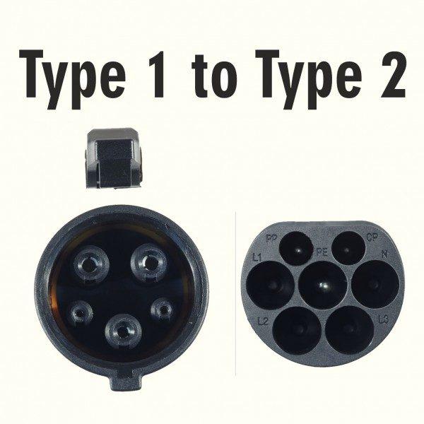 Cavo di ricarica auto elettriche - da Tipo 1 a Tipo 2